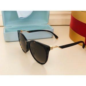 Authentic FENDI Logo sunglasses Gold FF 0209